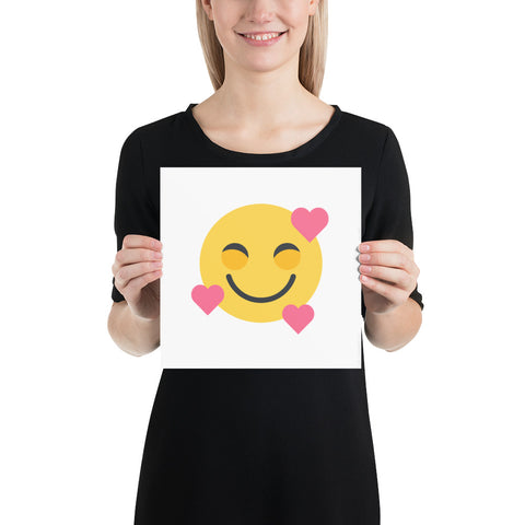 Down Syndrome Heart Emoji: ART PRINT | pink