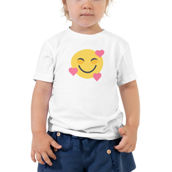 Down Syndrome Heart Emoji: TODDLER T-SHIRT | pink hearts