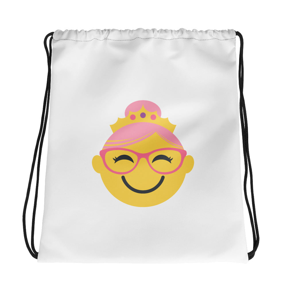 Spectacular Spectacles!  DRAWSTRING BAG - yellow/pink