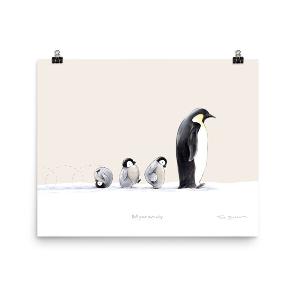 Winter Wonder Series | Art Print | Roll Your Own Way (beige)