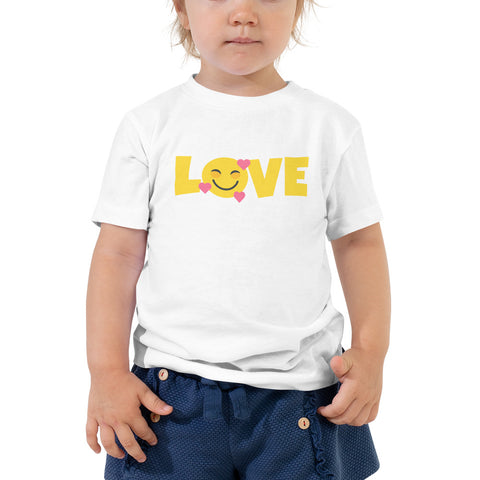 Down Syndrome LOVE Heart Emoji: TODDLER T-SHIRT | Pink hearts