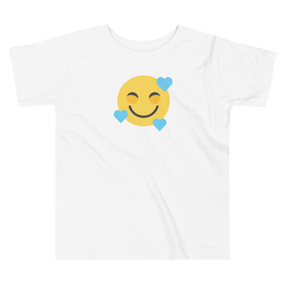Down Syndrome Heart Emoji: TODDLER T-SHIRT | blue hearts