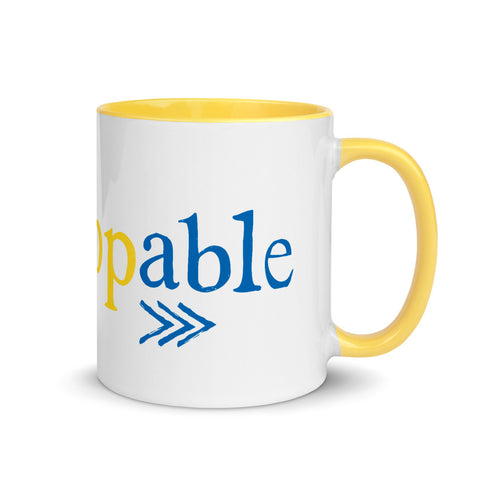 Down Syndrome Unstoppable MUG | yellow/blue
