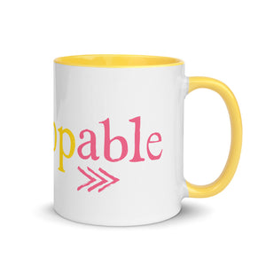 Down Syndrome Unstoppable MUG | yellow/pink