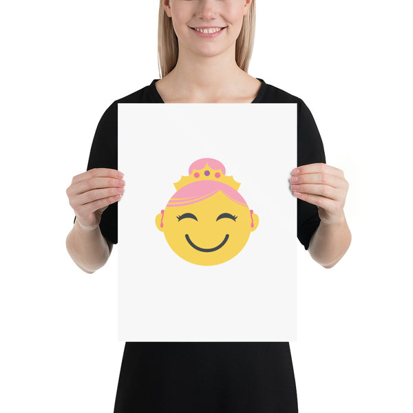 Princess with Hearing Aids: ART PRINT | yellow