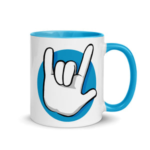 I Love You | American Sign Language: MUG | blue