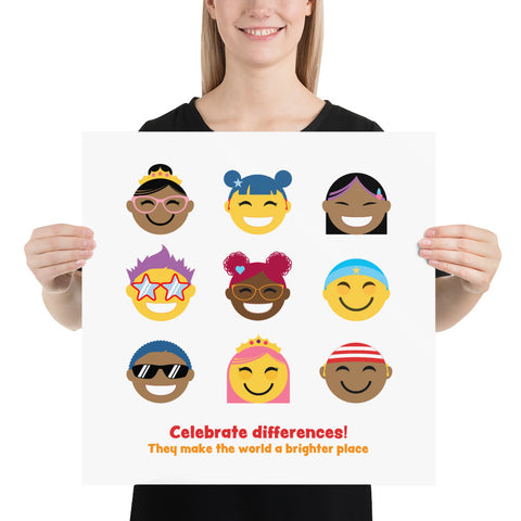 Celebrate Differences! ART PRINT