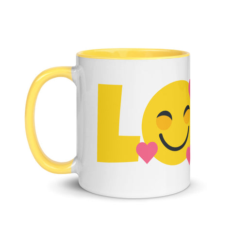 Down Syndrome Love Heart Emoji: MUG | yellow/pink