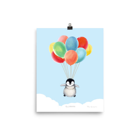 "Winter Wonder Series | Art Print | ""Fly Little Bird"" (blue)"