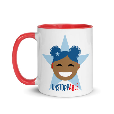 Unstoppable Star with Hearing Aids: MUG | red/blue/girl2