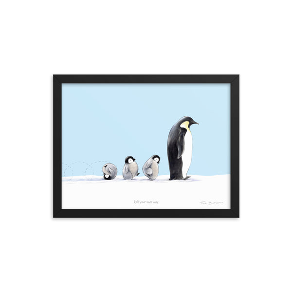 Winter Wonder Series | Framed Art Print | Roll Your Own Way (blue)