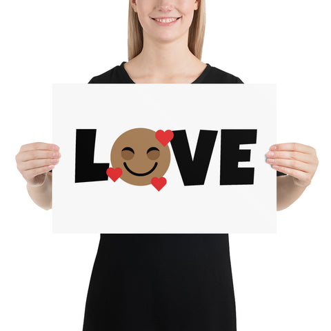 Down Syndrome Love Heart Emoji: ART PRINT | black/red