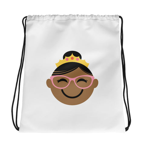 Spectacular Spectacles!  DRAWSTRING BAG - brown/pink