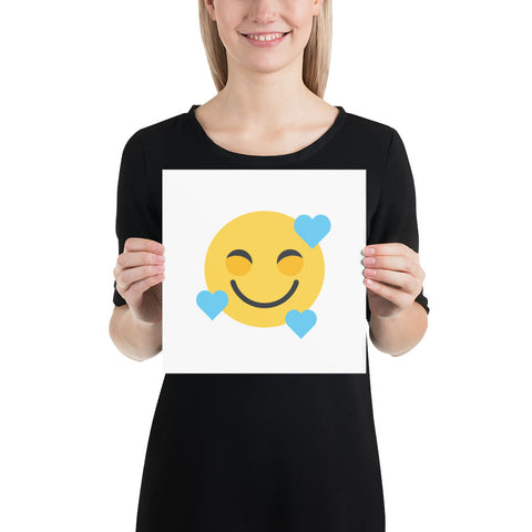 Down Syndrome Heart Emoji: ART PRINT | blue