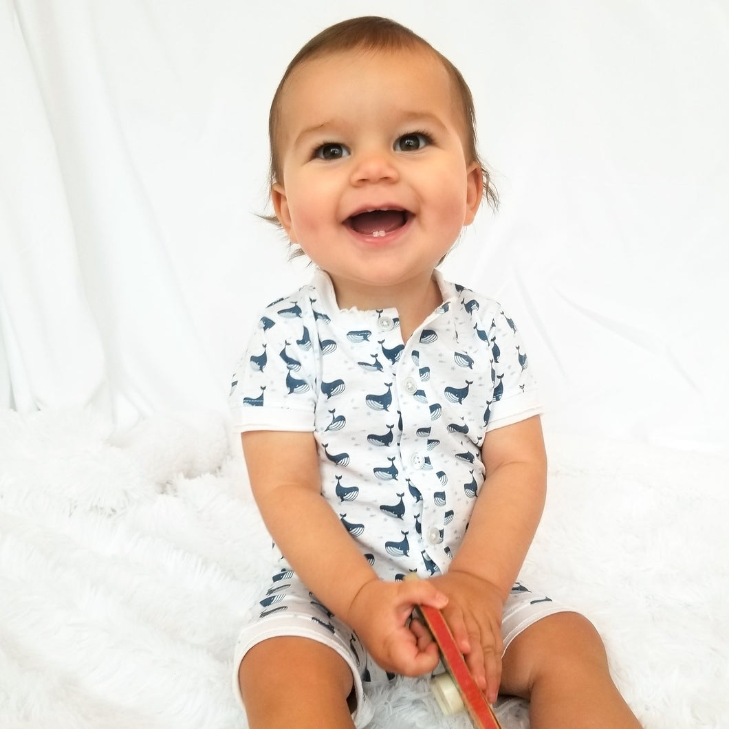 Feather Baby Whale Short Sleeve Jumper