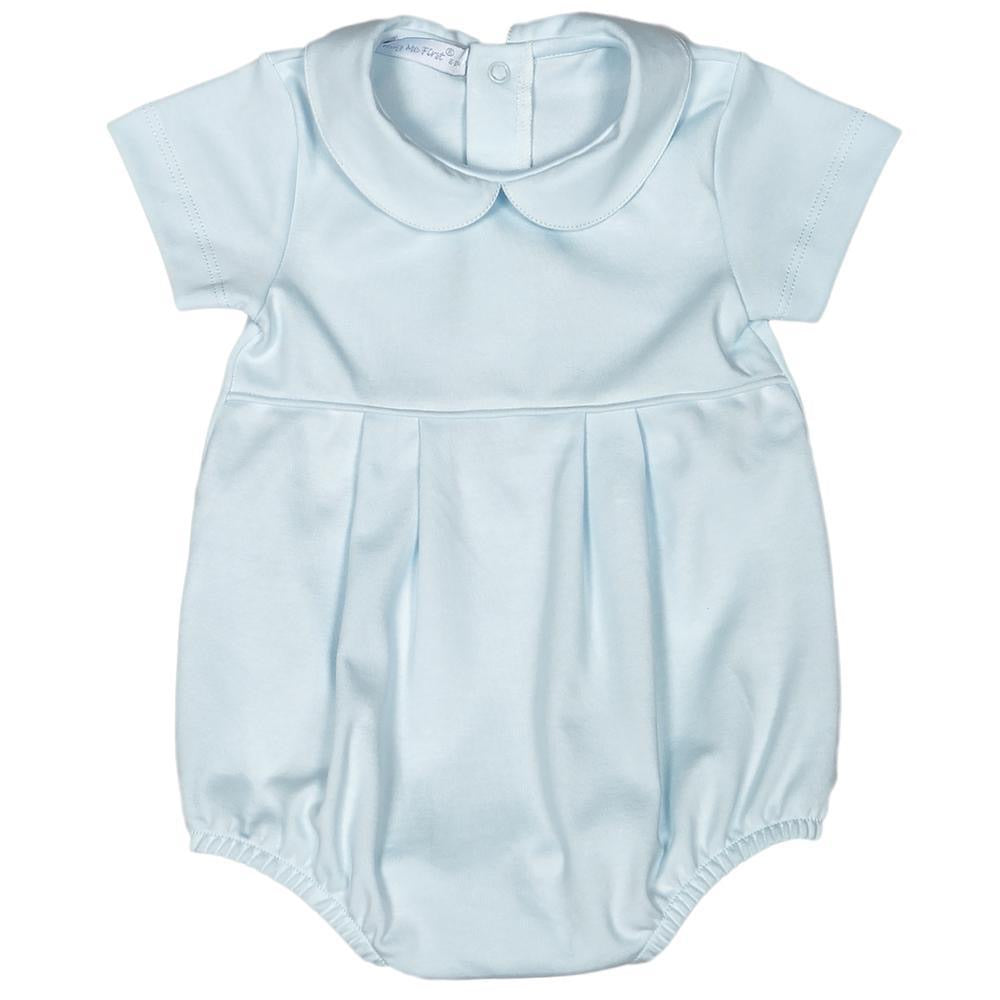 Baby Bliss Light Blue Boy Bubble - Available to be Embroidered