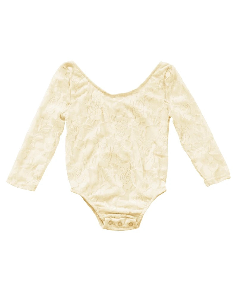 Lace Cream Off the Shoulder Infant