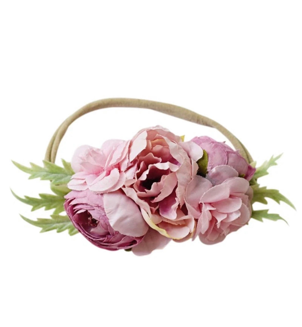 All Pink Flower HeadBand Accessory