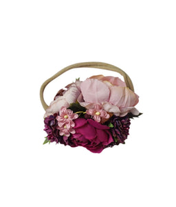 Pinks Flower HeadBand Accessory