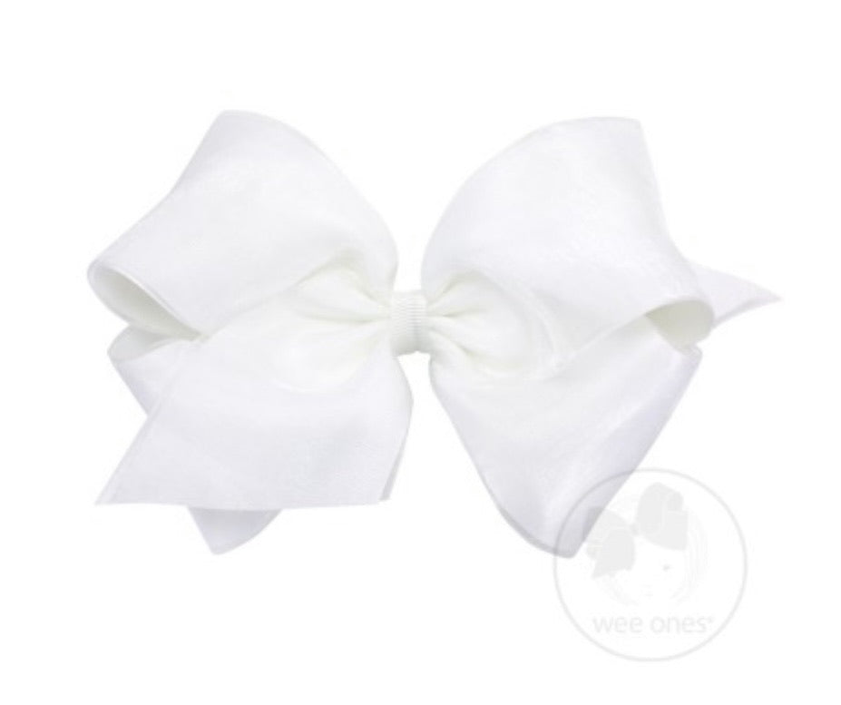 WeeOnes White Bow Accessory