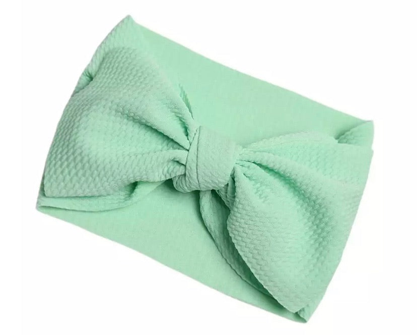 Mint Green Wrap Bow Accessory