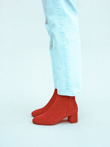 ANKLE BOOT, CHERRY