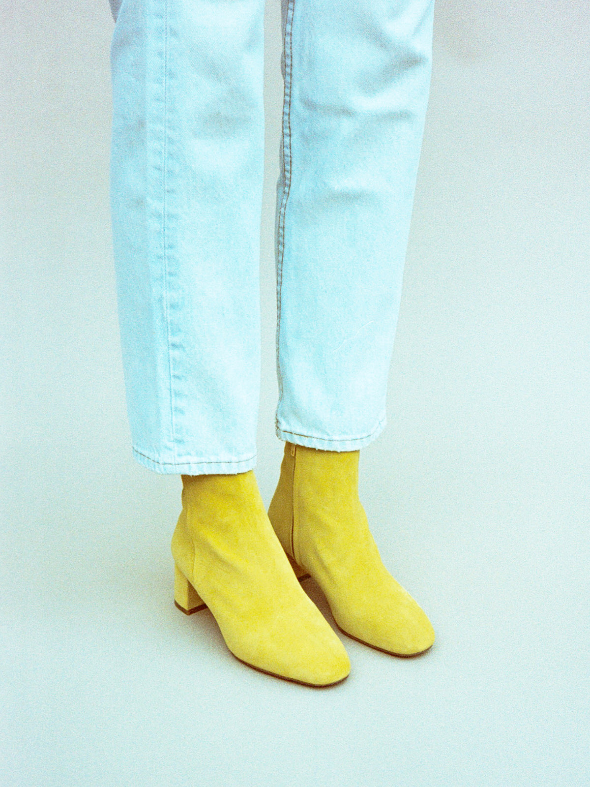 ANKLE BOOT, YELLOW
