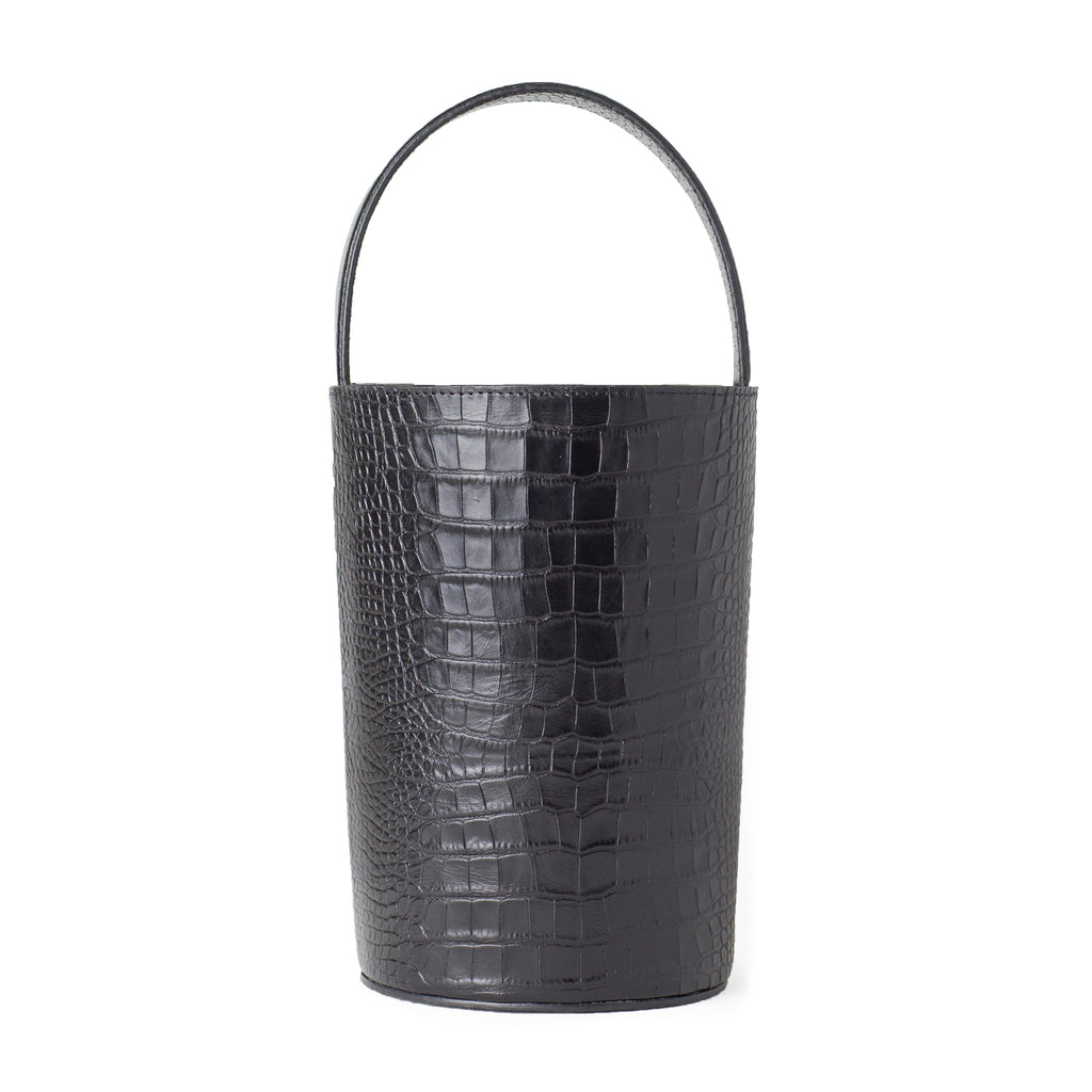 PETIT BUCKET, BLACK CROC