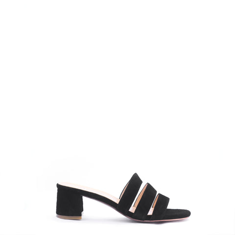 JANE MULE, BLACK SUEDE