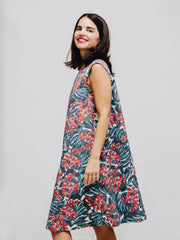 flower print dress organic cotton