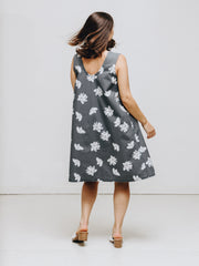 organic cotton dress flower print
