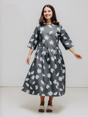 flower print organic cotton dress