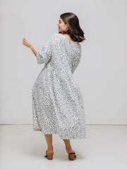 dot print nylah dress