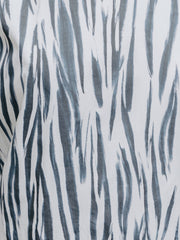 zebra print organic cotton fabric close up