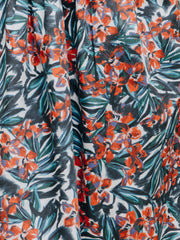 flower print organic cotton fabric