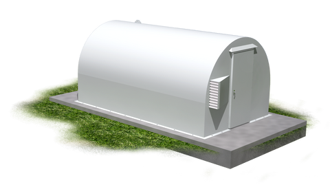 10x16 Above Ground Community Storm Shelter