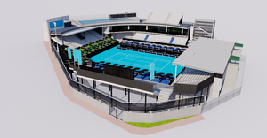 ASB Tennis Centre - Auckland New Zealand 3D model