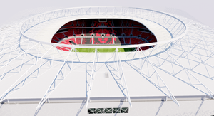 Al Rayyan Stadium - Ahmed bin Ali Stadium Qatar 3D model