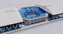 Load image into Gallery viewer, Ariake Coliseum - Tokyo 3D model