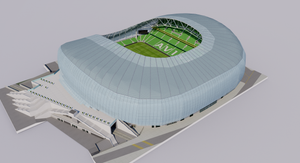 Aviva Stadium - Dublin Ireland 3D model