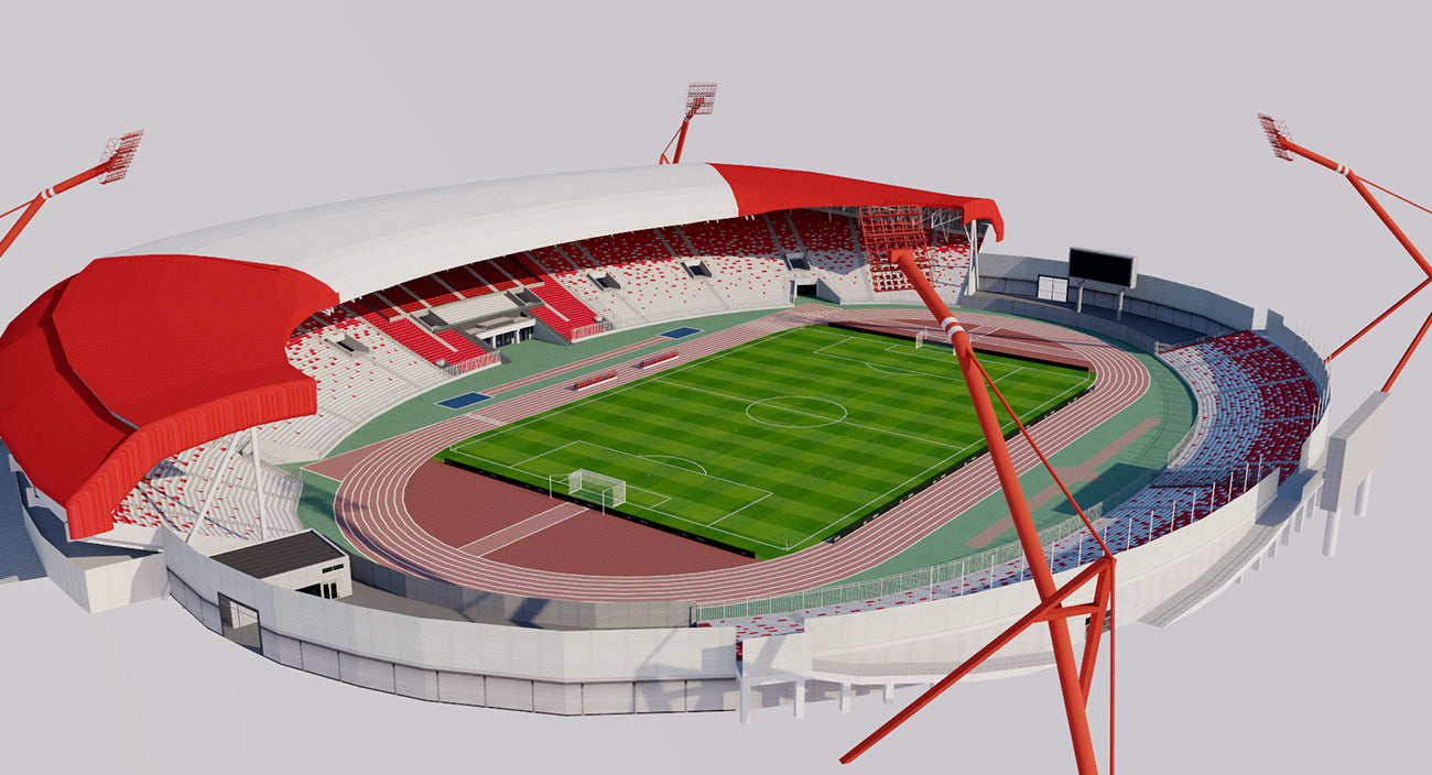 Bahrain National Stadium 3D model