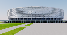Load image into Gallery viewer, Baku Olympic Stadium - Azerbaijan 3D model