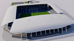Banc of California Stadium - Los Angeles 3D model