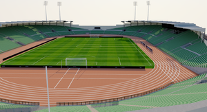 Bislett Stadium - Norway 3D model