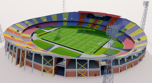 Estadio Atanasio Girardot - Colombia 3D model