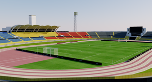 Estadio Olímpico Atahualpa - Ecuador 3D model