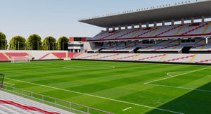 Estadio de Vallecas - Madrid 3D model