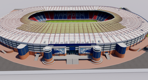 Hampden Park Stadium - Glasgow Scotland 3D model