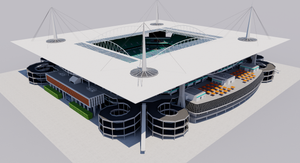 Hard Rock Stadium - Miami USA 3D model