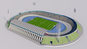 Independence Park - Kingston - Jamaica 3D model